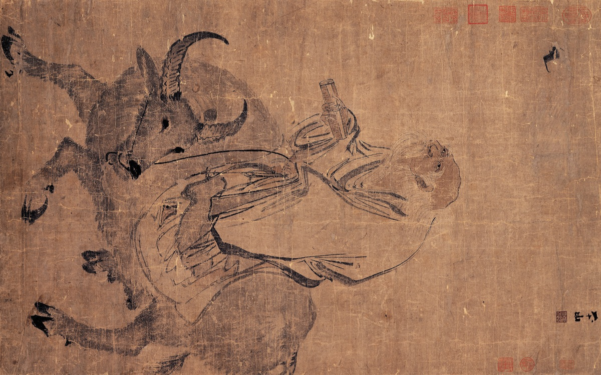 Zhang Lu Laozi Riding an Ox