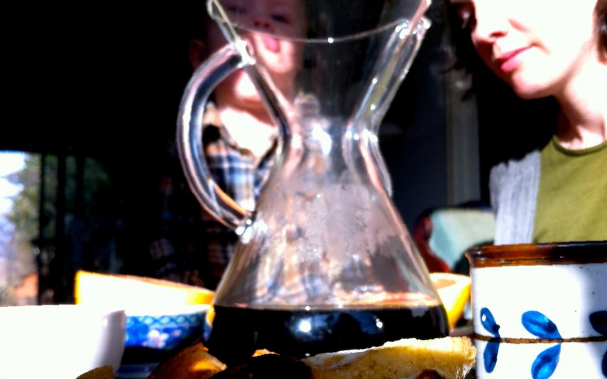 Chemex Coffee Pitcher at Breakfast