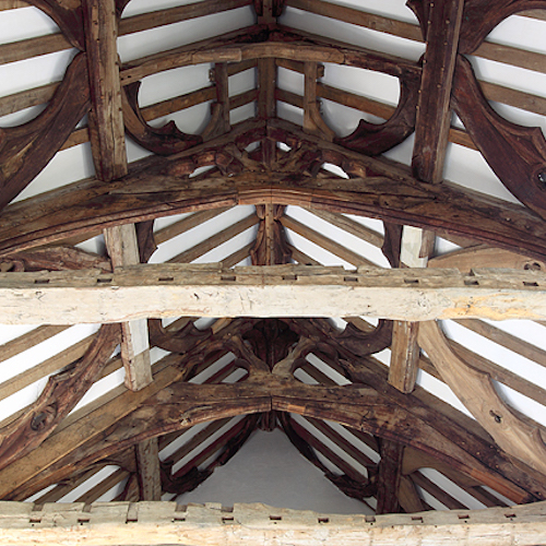 Fiddleford Manor House, Hall Roof Timbers